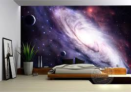 Aliexpress Buy 3D Purple Galaxy Wallpaper For Bedroom Charming Wall Mural Silk Photo