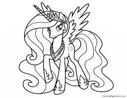 Simple My Little Pony Unicorn Coloring Pages