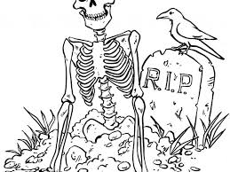 Download Halloween Skeleton Coloring Pages