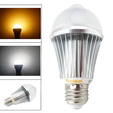pir motion sensor led light bulb 7w e26 e27 human motion sensor