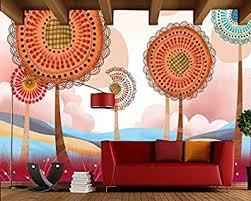 3d tapeten 3d effekt wohnzimmer bunte schöne karikatur
