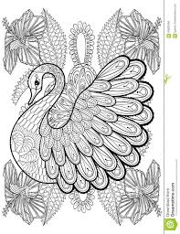 Royalty Free Vector Download Hand Drawing Artistic Swan In Flowers For Adult Coloring Pages