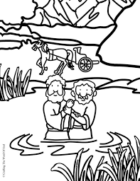 Philip And The Ethiopian Coloring Page Crafting Word Of God