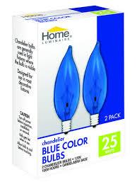 home luminaire 25 watt br38 chandelier tip blue color light
