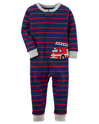 1-Piece Firetruck Snug Fit Cotton Footless PJs | Carters.com