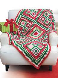 Crochet A Granny Square Christmas Tree Skirt Pattern Afghan Using This
