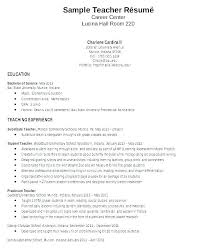 Examples Of Teacher Cover Letters Sample Resume Teaching Letter Resumes And