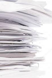 Piled Up Office Work Papers Stock Photo 39398165