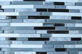 bliss iceland linear glass and marble mosaic tile recycled
