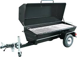 Pig Roaster, 6' Charcoal, Towable W/Trailer Lights
