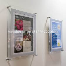 Pack 5units Custom A1 Wall Mounted Acrylic Perspex Floating Frame Lucite Gallery