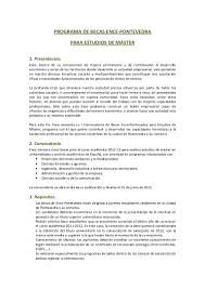 Bases Programa De Becas Ence 2012 13