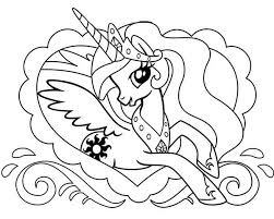Pony Princess Celestia In Love Frame My Little Coloring Page