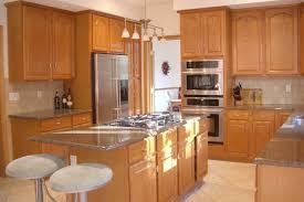 cherry wood cabinet knobs modern kitchen light fixtures brown