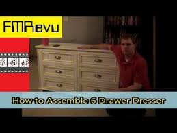 Ameriwood Dresser Assembly Instructions by How To Assemble 6 Drawer Dresser Diy Home Renovation Project