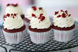 I Topped Each Cupcake With Vanilla Frosting And Some Red Velvet Crumble
