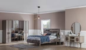 weltew schlafzimmer set mit schiebetürenschrank beykoz braun