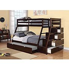 Colorado Stairway Bunk Bed by Amazon Com Bedz King Twin Over Full Stairway Bunk Bed With Twin