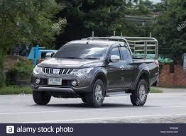 100 Mitsubishi Pickup Truck Chiangmai Thailand August 7 2018 Private Car Triton