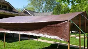 DIY Tarp Camping Canopy - YouTube Interior Shade For Pergola Faedaworkscom Diy Ideas On A Backyard Budget Backyards Amazing Design Canopy Diy For How To Build An Outdoor Hgtv Excellent 10 X 12 Alinum Gazebo With Curved Accents Patio Sails And Tension Structures Best Pergola Your Rustic Roof Terrace Ideas Diy Retractable Shade Canopy Cozy Tent Wedding Youtdrcabovewooddingsetonopenbackyard Cover