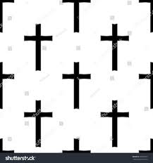 Cross Pumpkin Carving Patterns Christian by Religious Cross Seamless Pattern Vector Illustration Stock Vector