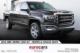 2016 GMC Sierra 1500 SLT - Heated & Cooled Seats Stock # E1261 For ... Ford F350 In Colorado Springs Co For Sale Used Trucks On 2016 Chevrolet Silverado 1500 Lt Stock E1134 For Sale Near 2012 Honda Ridgeline Sport P2675b Preowned Vehicles Porsche Cheap In Victorville Ca 263 Vehicles From 2499 Iseecarscom Cars The Faricy Boys Toyota Tacoma 80950 Autotrader Youtube Ram Less Than 1000 Dollars Car Dealer Cobad Credit Auto Loanspreowned