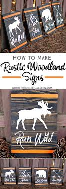 How To Make Rustic Woodland Signs