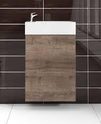 wc badmöbel angela 40x22 cm braun eiche schrank waschbecken badezimmer toilette