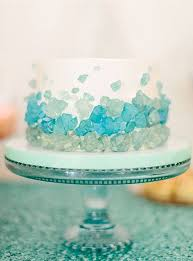 Beach Glass Wedding Cake