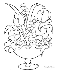 Printable Coloring Pictures Of Flowers