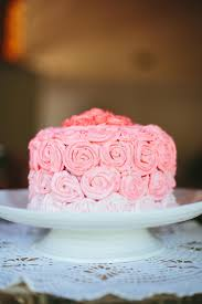 Download Pink Rose Ombre Wedding Cake Stock Photo