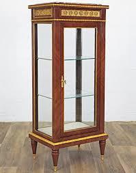 barock vitrine antik stil vitrinenschrank mit marmor bücher