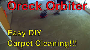 Oreck Floor Machine Pads by Easy Carpet Cleaning With Oreck Orbiter Youtube