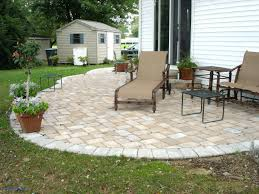 Backyard Stones Lovely Patio Ideas Concrete Paver Patio Designs