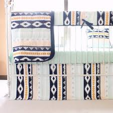 Navy And Coral Crib Bedding by Tupac U0027s Aztec Baby Bedding Arid Horizon Triangles With Navy Mint