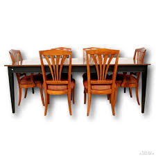 Ethan Allen Dining Table W/6 Chairs   Upscale Consignment Ethan Allen Ding Room Chairs Table Antique Ding Room Table And Hutch Posts Facebook European Paint Finishes Lovely Tables Darealashcom Round Set For 6 Elegant Formal Fniture Home Decoration 2019 Perfect Pare Fancy Country French New Used With Back To Black And White Sale At Watercress Springs