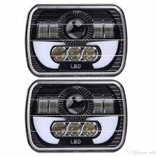 Best 5 X 7 90w Square Truck Led Headlight Driving Lamps With Hi/Lo ... 092014 Ford F150 Pickup Truck Black Led Tube Bar Projector Halo Headlight Accent Lights With T314 Adapter Super Bright Leds Best 5 X 7 90w Square Led Driving Lamps With Hilo Lite Heated Headlamps Youtube Lumen Sb7655hlblk 7x6 Rectangular Headlights Headlight Bulbs Forum Community Of Fans 5x7 Buy Promotion Inch For 4x6 Polycarbonate Lens Alinum Low Fxible White And Amber For Custom 2 Pcs 4x6 Inch 12v 24v Trucks Trucklite Installation Writeup A Jeep Xj Cherokee Auto Headlamp 6x7 High