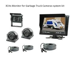 100 Truck Camera System 7 Monitor 3CHs Side Rear View Camera System For Sanitation S