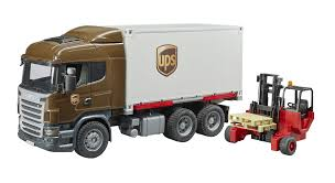 Bruder Scania R-Series Ups Logistics Truck With Forklift Vehicles ...