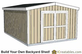 Saltbox Shed Plans 12x16 by 12x16 Short Shed Plans 8 U0027 4