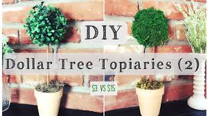 Payless Decor Promo Code by Diy Topiary Dollar Tree Room Decor For 3 Youtube