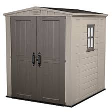 Suncast Vertical Storage Shed Home Depot by Jardin 6 Ft X 6 Ft Shed In Taupe The Home Depot Canada