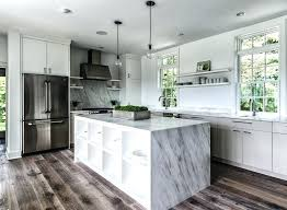 Best Flooring For Kitchen Distressed Wood Ideas With Cream Cabinets