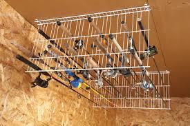 sneak peek ingenious garage storage ideas fishing rod storage