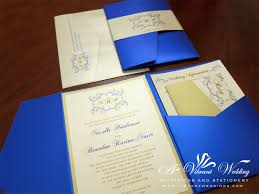 Blue And Gold Wedding Invitation A Vibrant Weddi On Invitations Royal Silver By