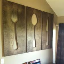 large wooden fork and spoon wall hanging https www etsy listing 159667395 kitchen distressed