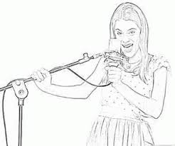 Printable Violetta Sings From Her Heart Coloring Page