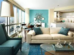 View In Gallery Burnt Orange And Turquoise Accent Colors Room White With Teal Accents Living Furniture