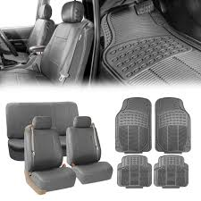 100 Truck Seat Cover BESTFH With Integrated Belt Gray W Gray