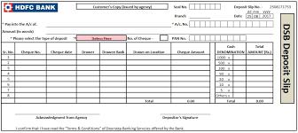 Bank Deposit Slip Template Excel Word And PDF